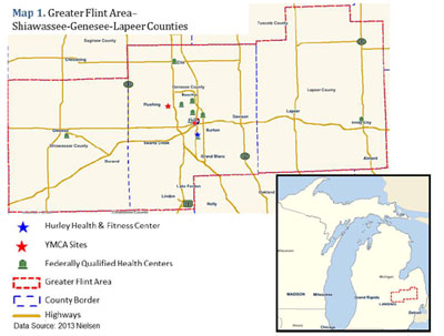 map of greater flint area